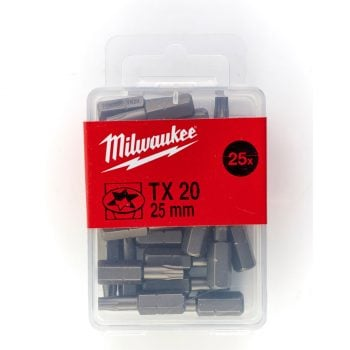 Milwaukee Bits TX20 25mm 25-pack
