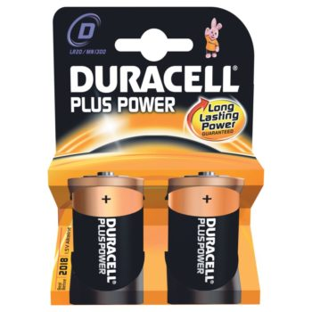 Duracell Plus Power D 2-pack