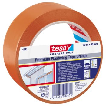 Tesa Byggtejp 50mm Orange PVC