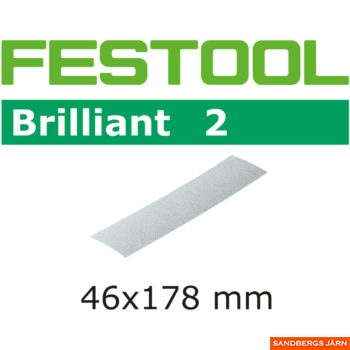 Festool BRILLIANT 2 STF 46x178/0 P80 10-pack
