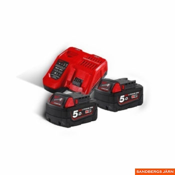 Milwaukee M18 NRG-502 Batterier & Laddare