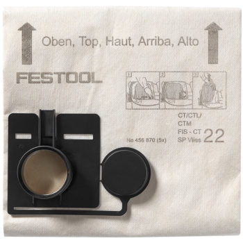 Festool Filtersäck FIS-CT 22 SP VLIES 5-pack