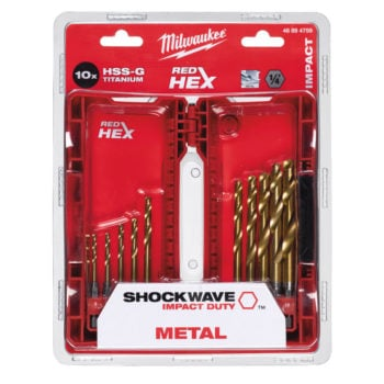 Milwaukee Shockwave HSS-G TiN Sats 3-10mm