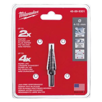 Milwaukee Stegborr 4-12mm - 1mm Steg