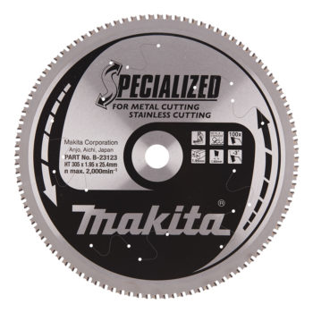 Makita Specialized HM 305x25,4x1,95mm 100T Rostfritt