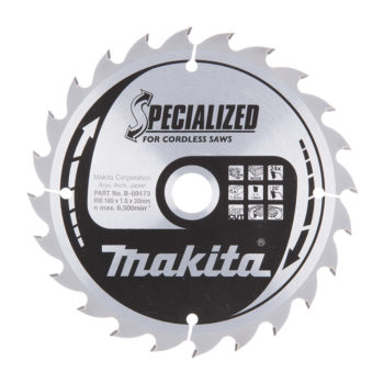 Makita Specialized HM 165x20x1,5mm 24T Trä