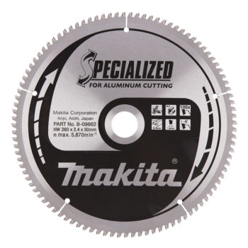 Makita Specialized 260x30x2,3mm 100T Aluminium