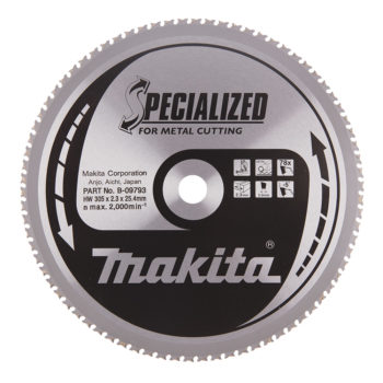Makita Specialized 305x25,4x2,3mm 78T Metall