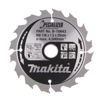 Makita Specialized HM 136x20x1,5mm 16T Trä