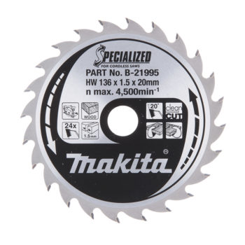 Makita Specialized HM 136x20x1,5mm 24T Trä