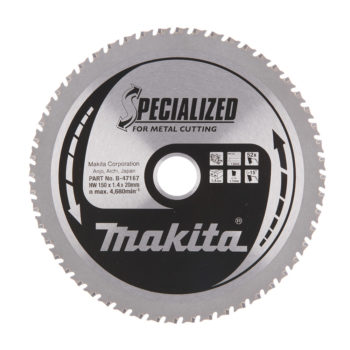 Makita Specialized HM 150x20x1,4mm 52T Metall