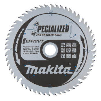 Makita Specialized 165x20x1,45mm 56T Trä, MDF & Laminat