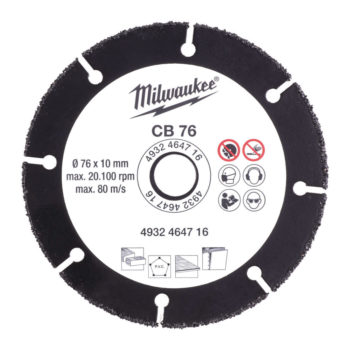 Milwaukee CB 76 Carbidskiva 76mm