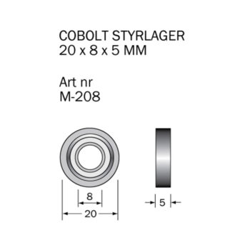 Cobolt Kullager 20x8mm