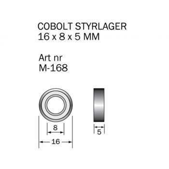 Cobolt Kullager 16x8mm