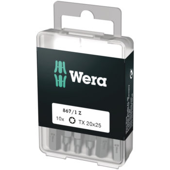 Wera 867/1 Z DIY SiS D6,3 Bits TX20 25mm 10-pack