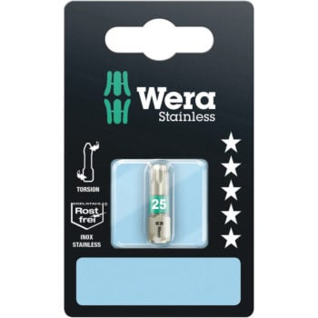 Wera Stainless 3867/1 TS SiS D6,3 Bits TX20 25mm
