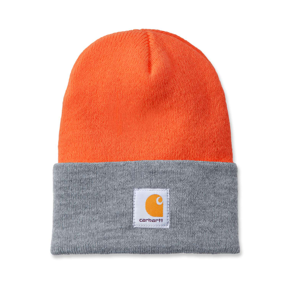 Carhartt Watch Hat Bright Orange/H.Grey