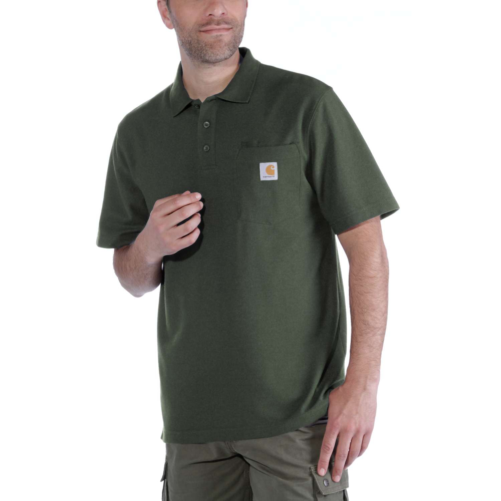 Carhartt Work Pocket Polo S/S Moss Large