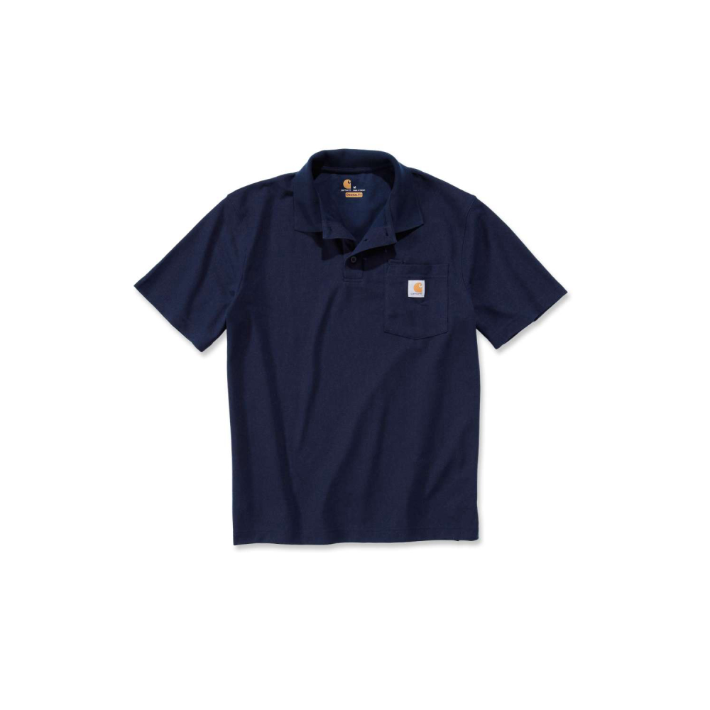 Carhartt Work Pocket Polo S/S Navy Large