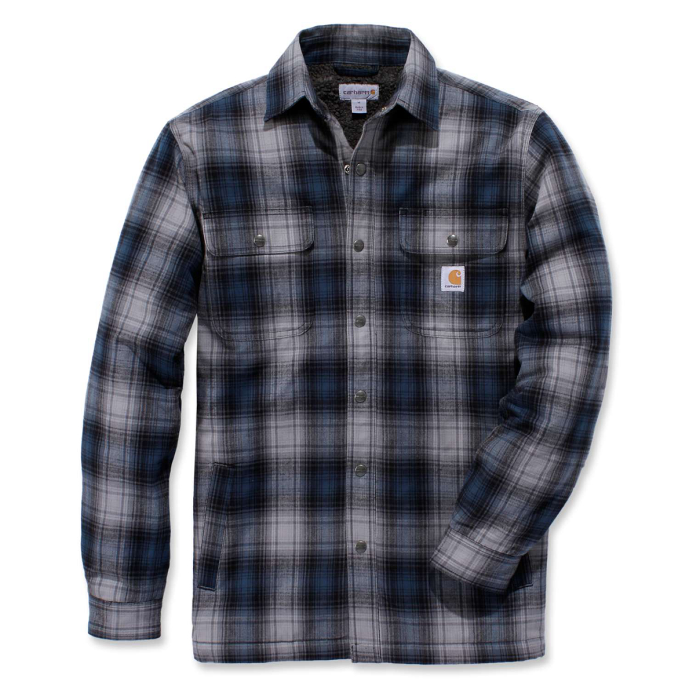 Carhartt Hubbard Sherpa Lined Shirt Jac Relaxed Fit Twilight Medium