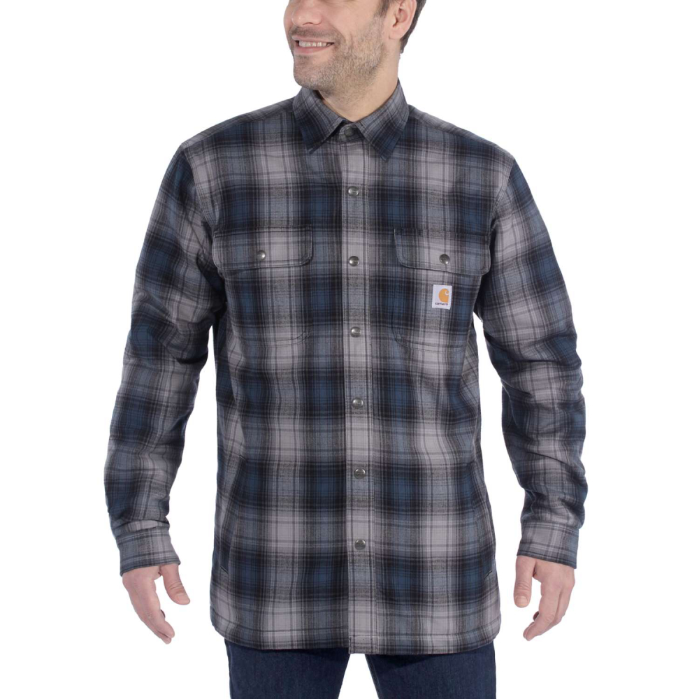 Carhartt Hubbard Sherpa Lined Shirt Jac Relaxed Fit Twilight Large