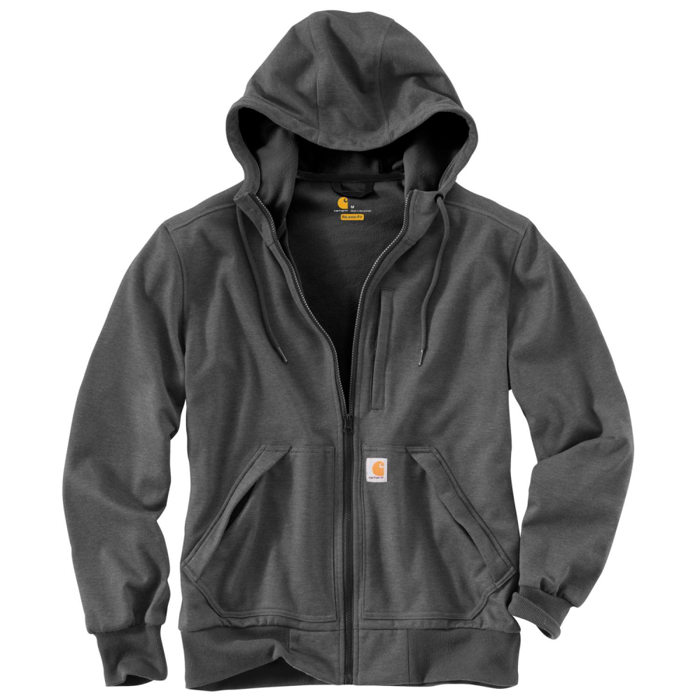 Carhartt Wind Fighter Hooded Sweatshirt Carbon Heather Large