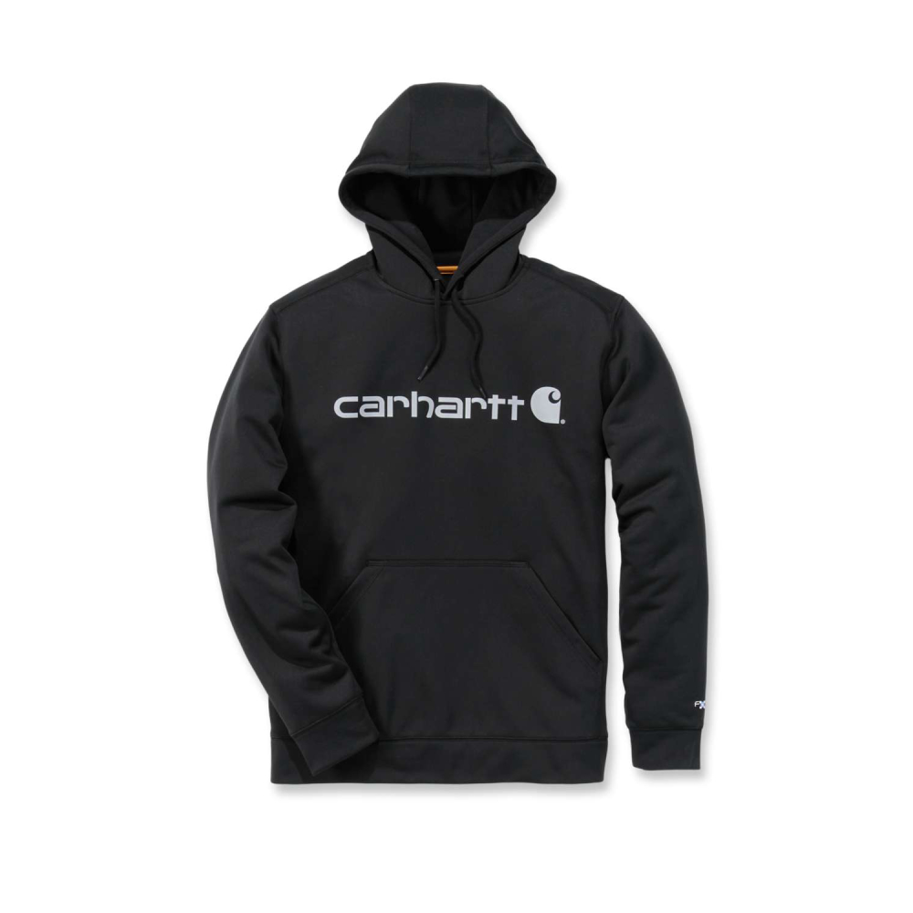 Carhartt Force Ext.Logo Hooded Sweatshirt Black/Coal Small