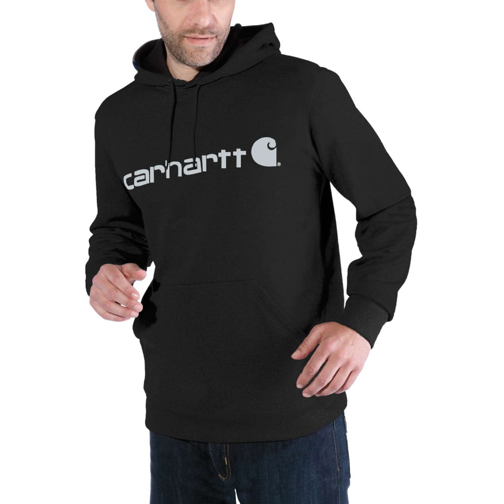 Carhartt Force Ext.Logo Hooded Sweatshirt Black/Coal Medium