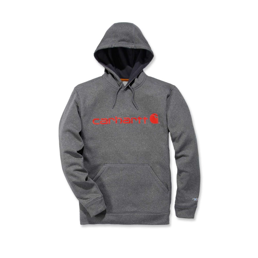 Carhartt Force Ext.Logo Hooded Sweatshirt Granite Heather Small