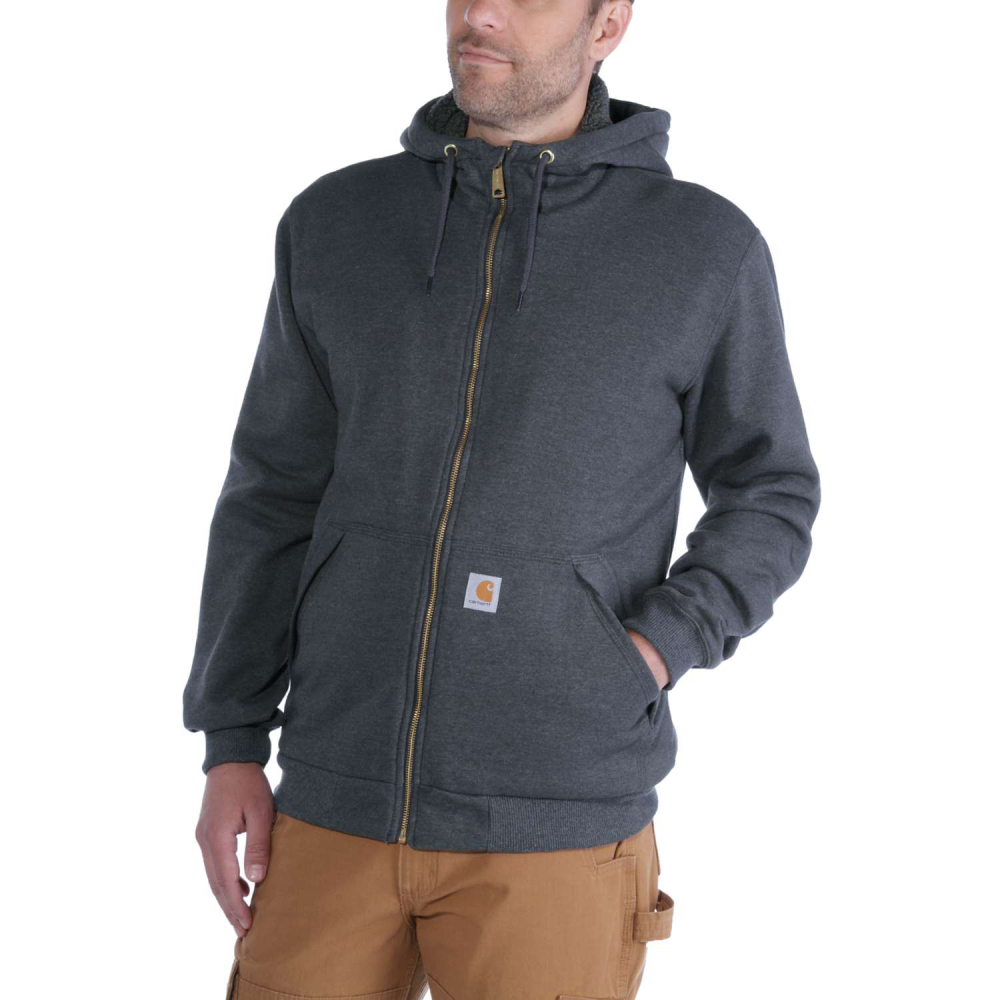 Carhartt Sherpa Lined Midweight Zip Carbon Heather Small