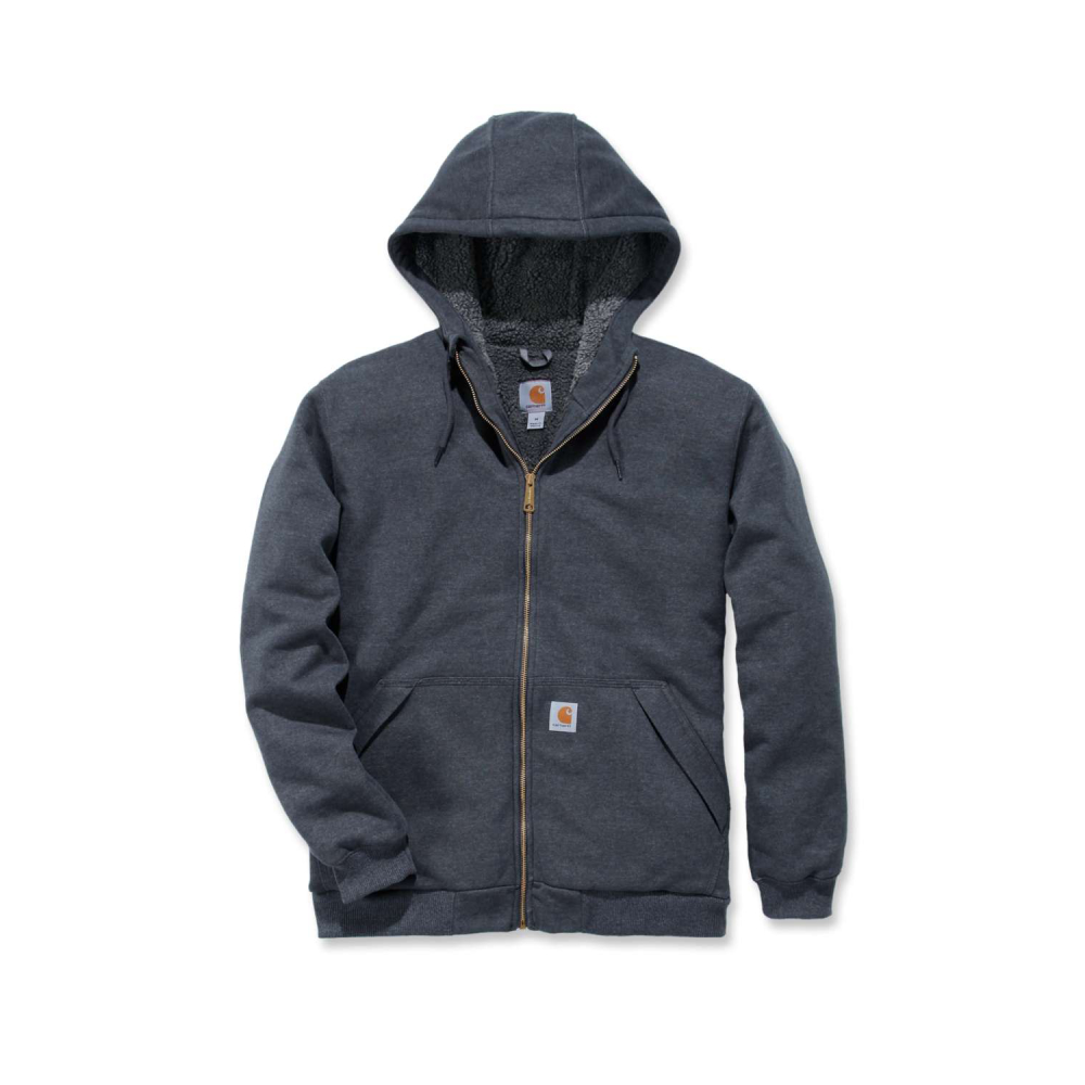 Carhartt Sherpa Lined Midweight Zip Carbon Heather Large