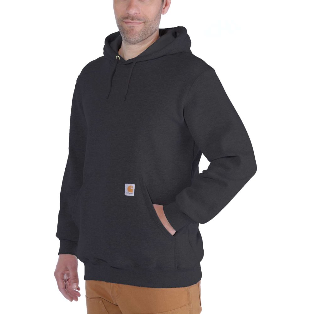 Carhartt Hooded Sweatshirt Carbon Heather Small