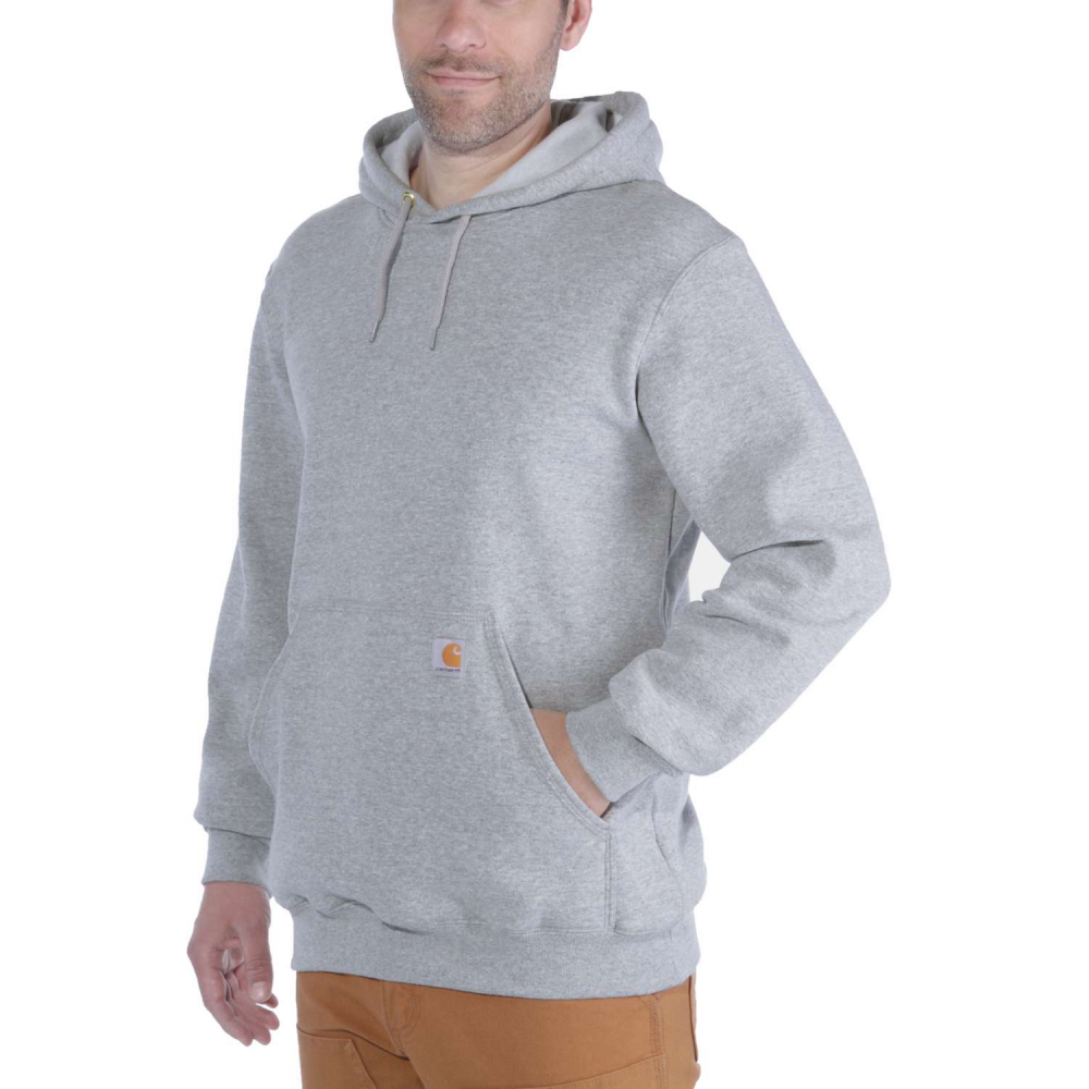 Carhartt Hooded Sweatshirt Heather Grey Small