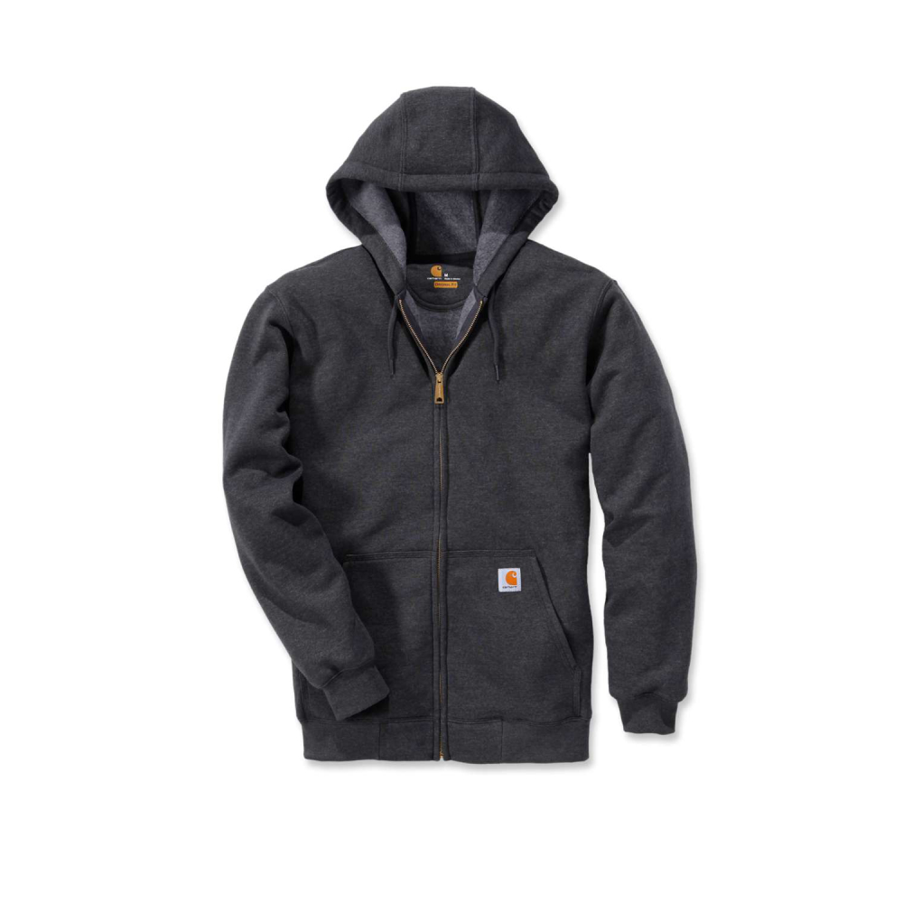Carhartt Zip Hooded Sweatshirt Carbon Heather Large