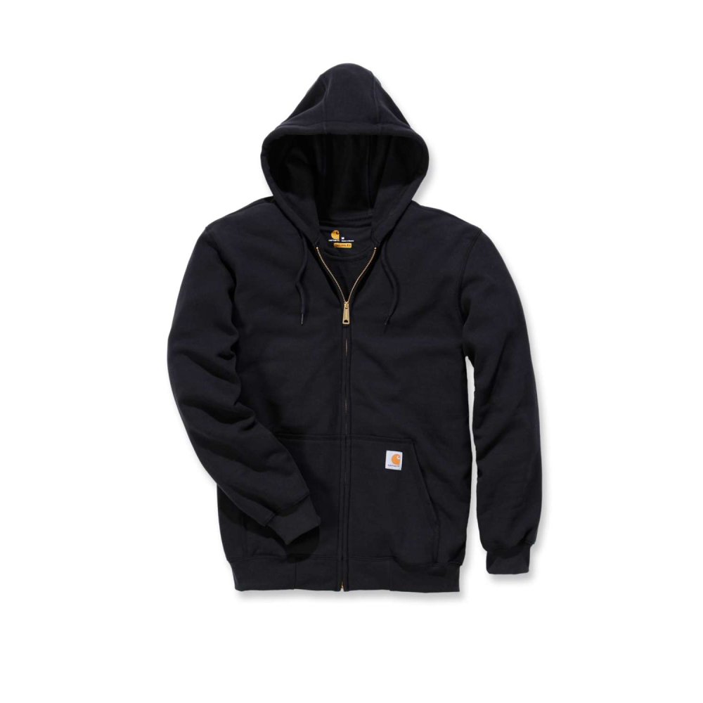 Carhartt Zip Hooded Sweatshirt Svart Medium