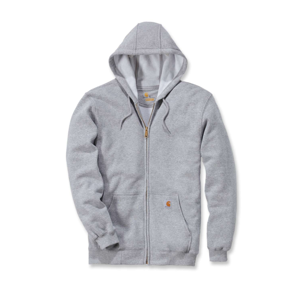 Carhartt Zip Hooded Sweatshirt Heather Grey Small