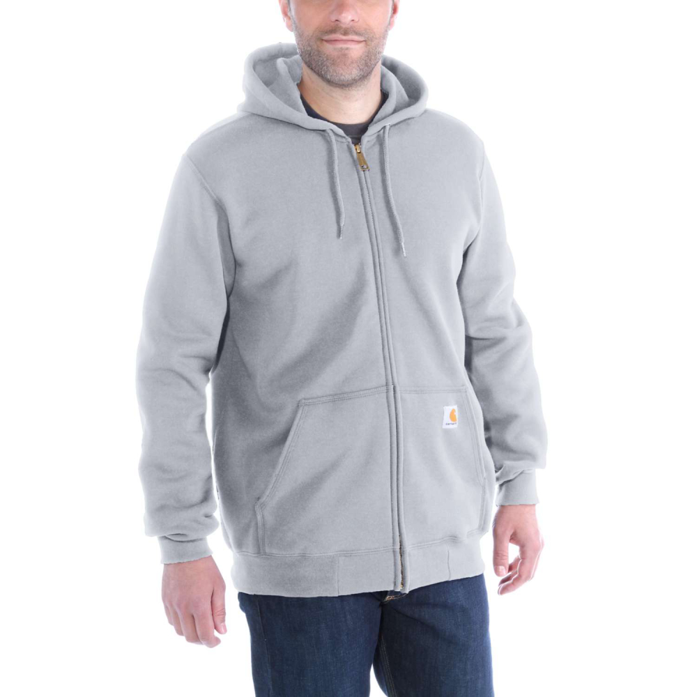 Carhartt Zip Hooded Sweatshirt Heather Grey Large