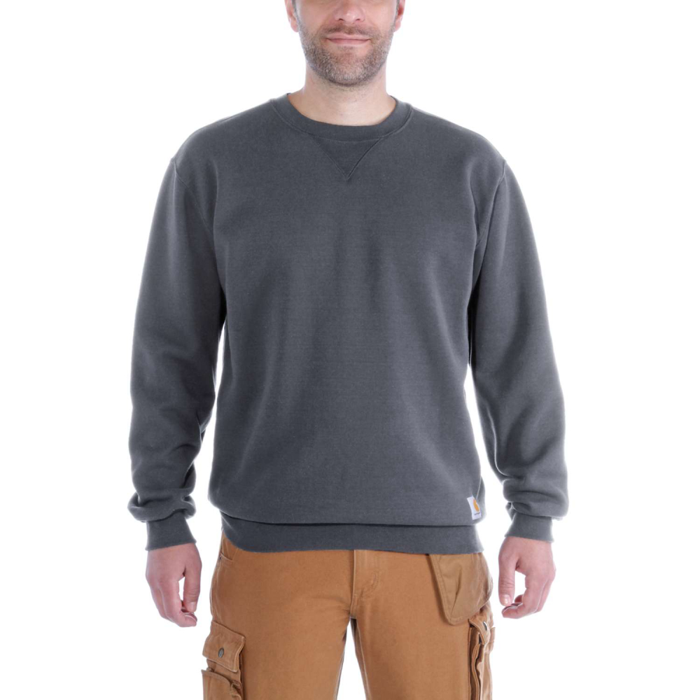 Carhartt Midweight Crewneck Sweatshirt Carbon Heather Medium