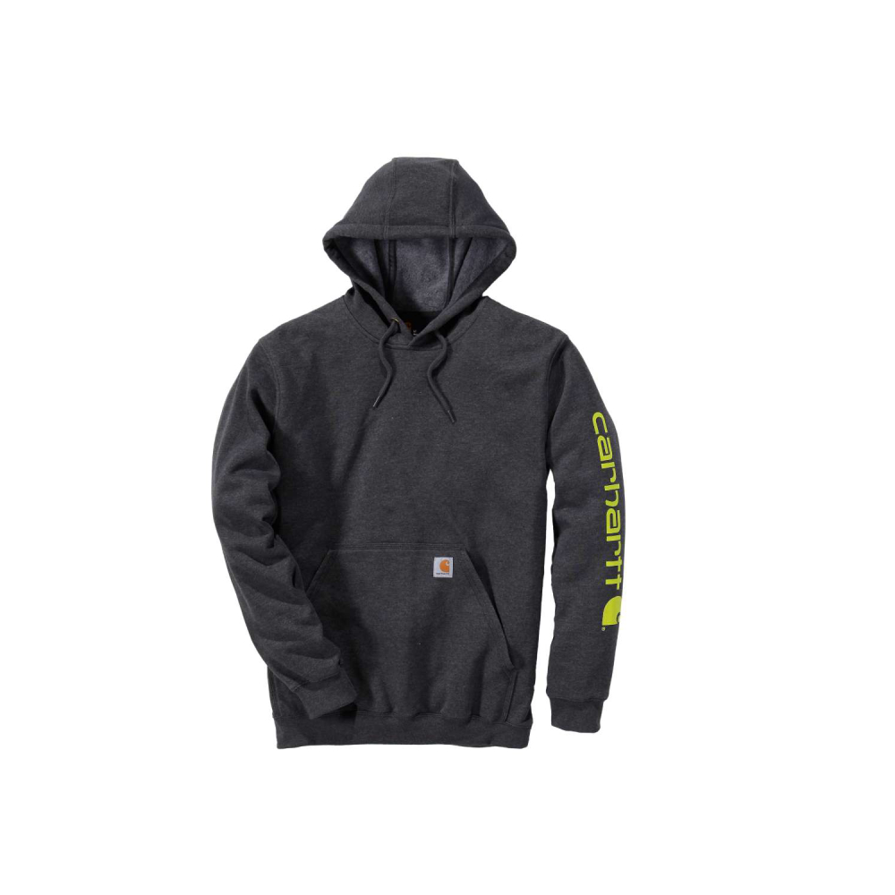 Carhartt Sleeve Logo Hooded Sweatshirt Carbon Heather Small