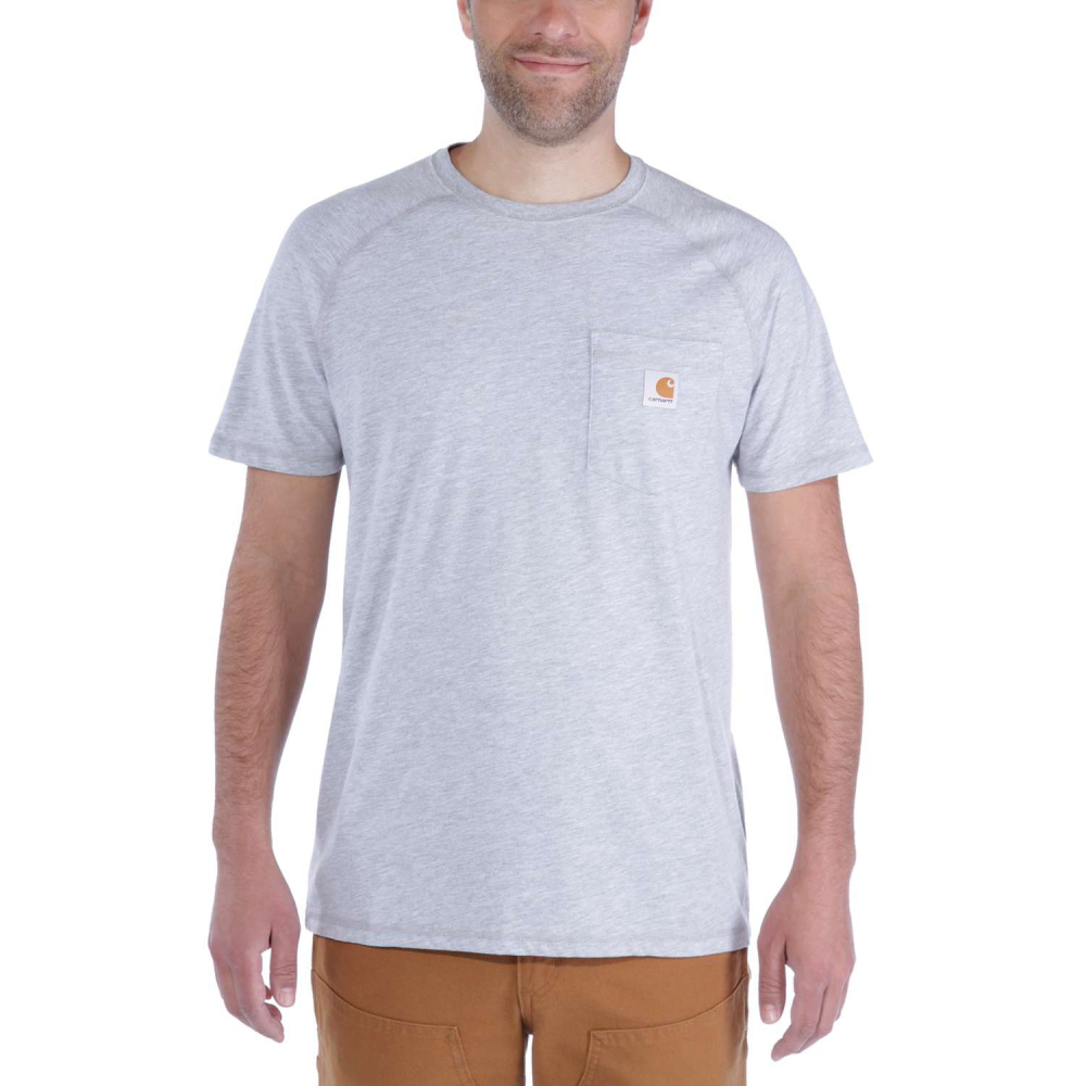 Carhartt Force Cotton T-shirt S/S Heather Grey Large