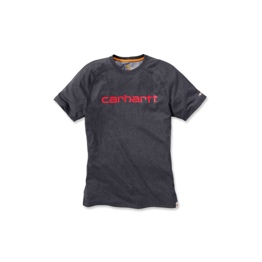 Carhartt Force Delmont Graphic T-shirt S/S Carbon Heather Small