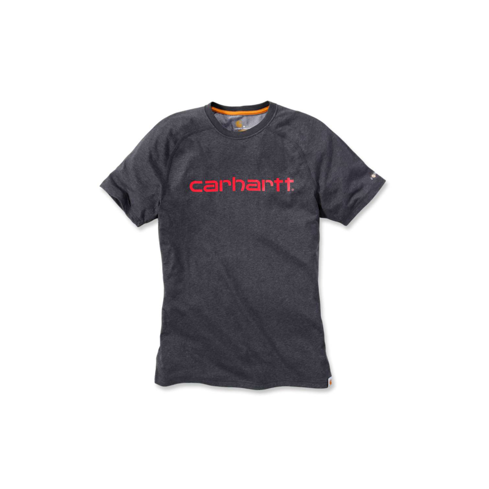 Carhartt Force Delmont Graphic T-shirt S/S Carbon Heather Medium
