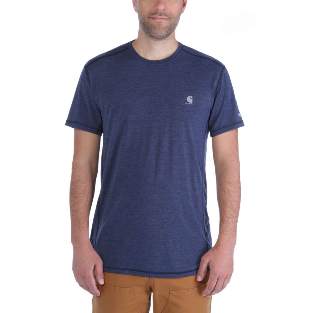 Carhartt Force Extremes T-shirt S/S Navy Heather Small