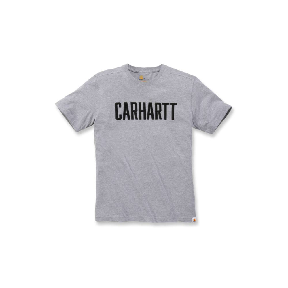 Carhartt Block Logo T-shirt S/S Heather Grey Medium