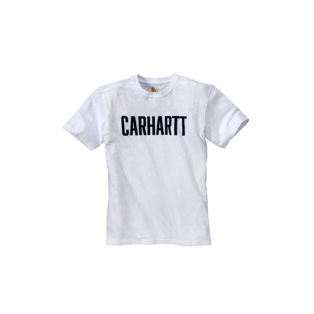 Carhartt Block Logo T-shirt S/S Vit Medium