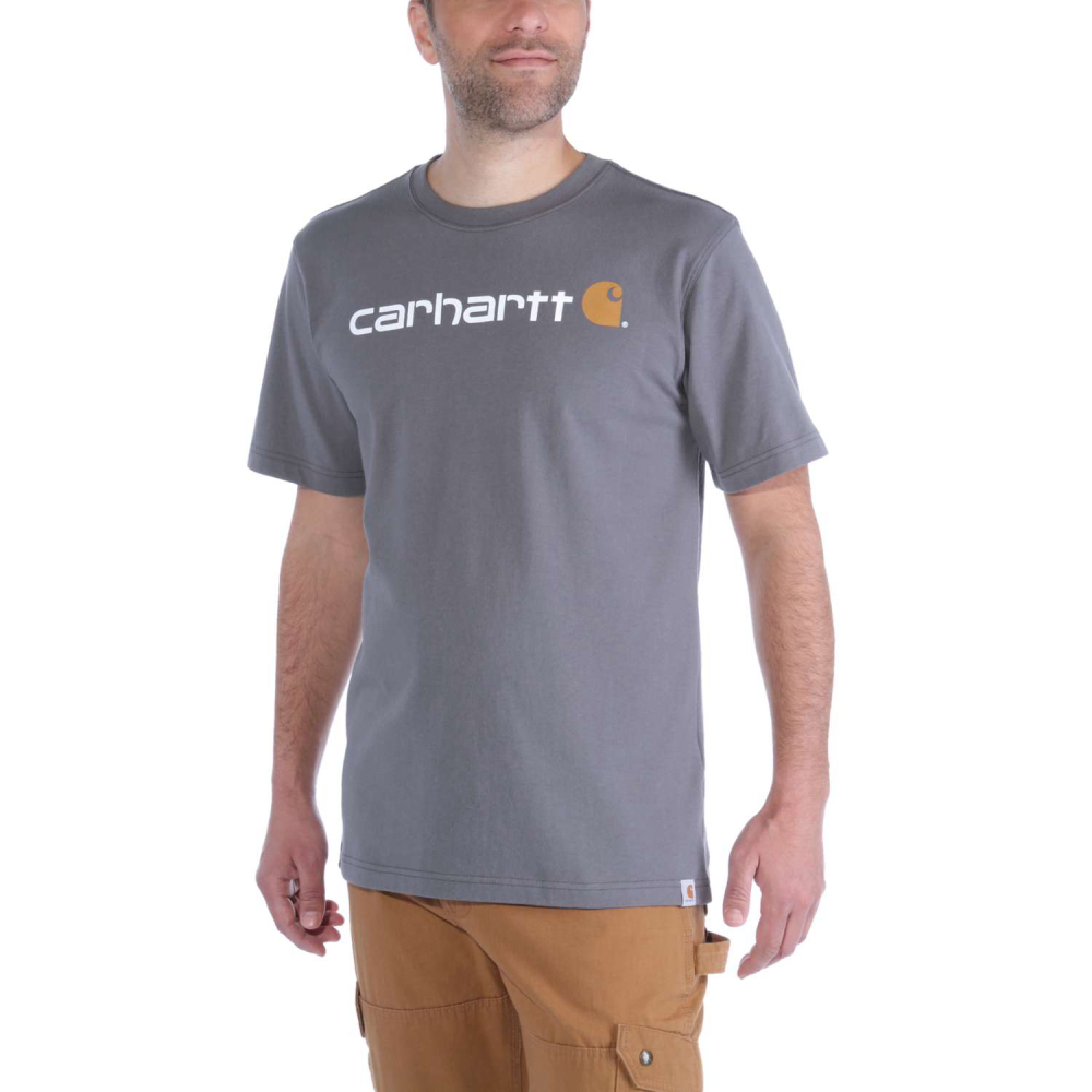 Carhartt Core Logo T-shirt S/S Charcoal Large