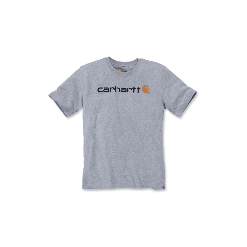 Carhartt Core Logo T-shirt S/S Heather Grey Large