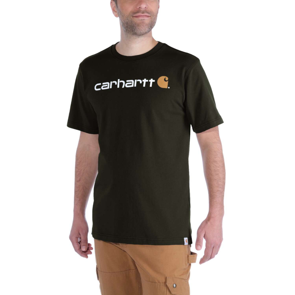 Carhartt Core Logo T-shirt S/S Peat Medium