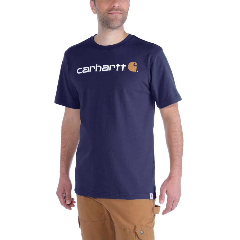 Carhartt Core Logo T-shirt S/S Navy Small